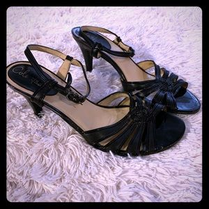 COLE HAAN Patent Leather Strappy Heels 9